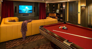 Pool Table Makes Home Theater More Entertaining