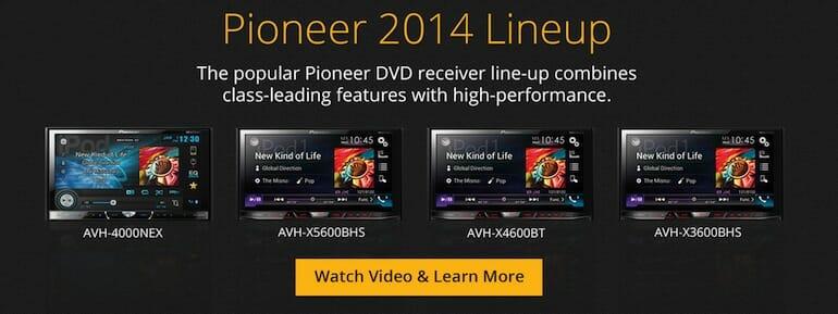 Pioneer 2014 DVD Receivers