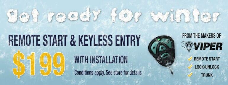 Viper Keyless Entry for $199