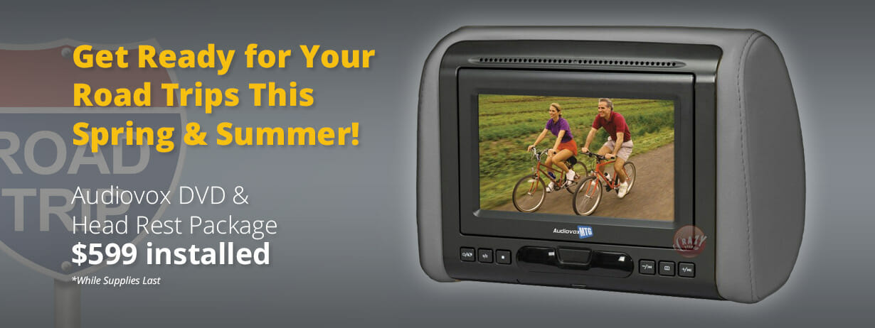 Audiovox DVD & Head Rest Package for $599