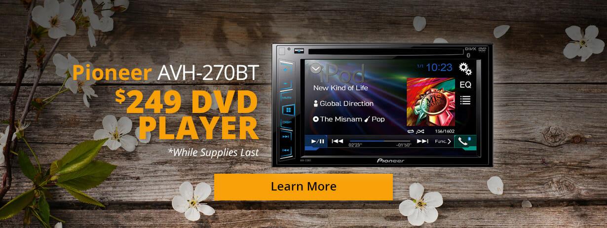 Pioneer AVH-270BT DVD Player for $249