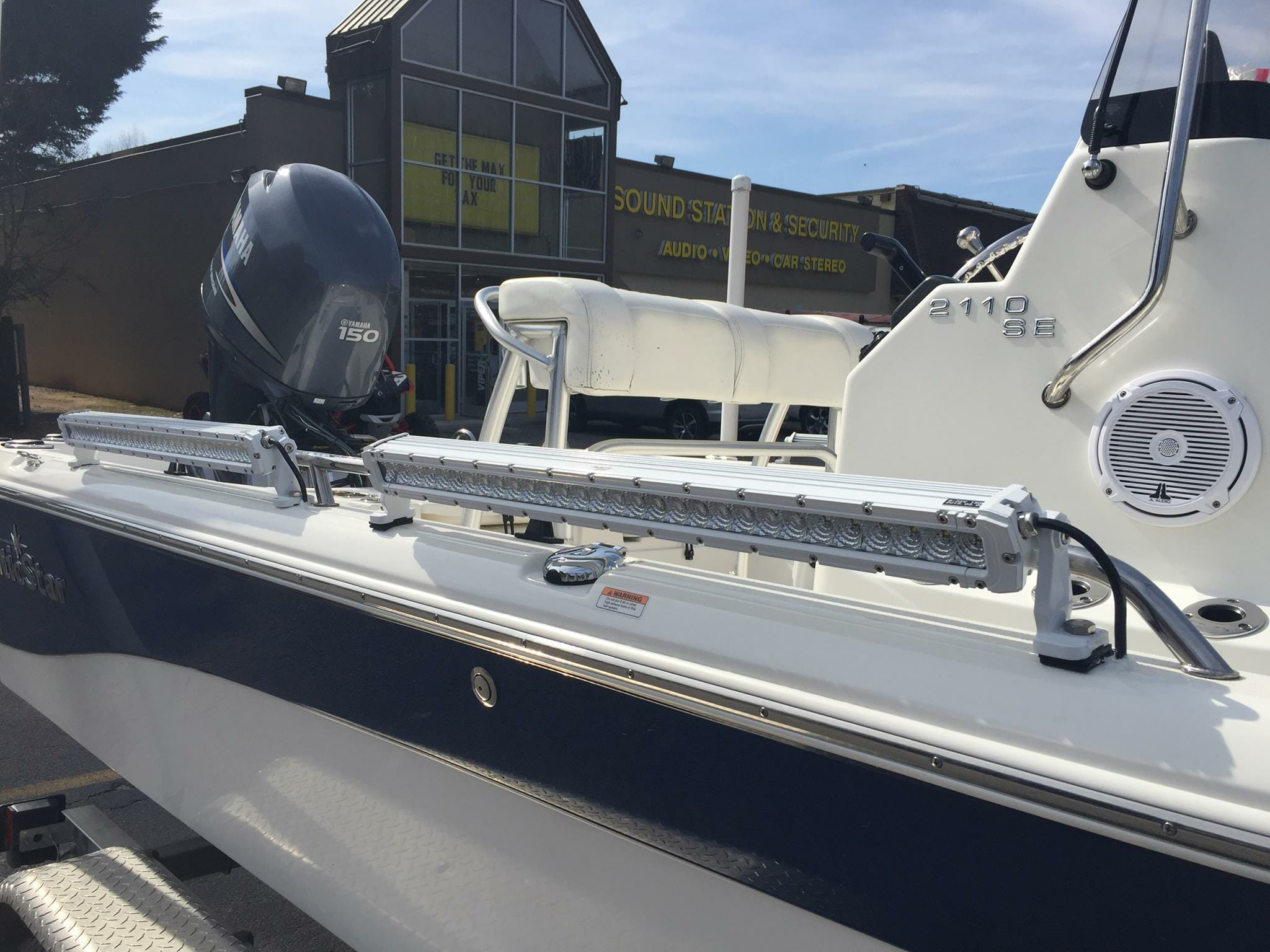sound station security boat installation lights
