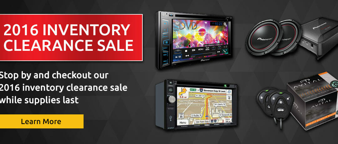 2016 Inventory Clearance Sale