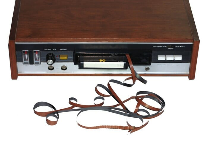 8 track player in car