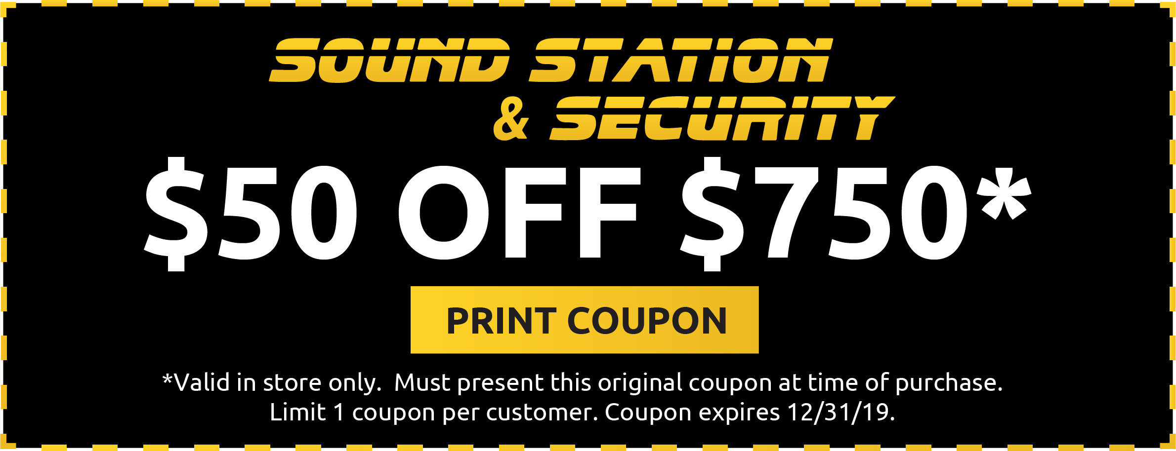Sound Station & Security Coupon